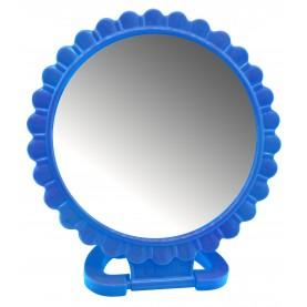 MIR 31 зеркало КРУГ 12см 1стороннее с ободком 15 см на подставке без упаковки 56гр. (12 шт/уп 360/кор)