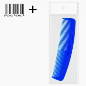 CMB001 расческа (ОРР+стикер шк 1 мужская цветная классическая 12см (син,фиолет,желт,роз,зелен)(30шт/ уп zip 15*20 - кор/4500)