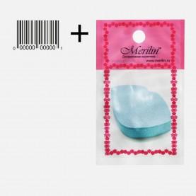 SPN30 спонж АВР+стикер универсал нанесен и снятия макияжа губы|улыбка 6*4 см х 2 см (толщ) (20 шт/уп 1400/кор)