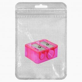 точилка PLS02 zip8*13+стикер ш/к точилка двойная для косметических карандашей 2 размера в ОРР 3,5*3см (уп/12шт ZIP 18*25)11 гр. (1440/кор)