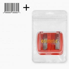 точилка PLS01zip8*13+стикер ш/к точилка двойная для косметических карандашей 2 размера прозрачн крышка 3,5*3*2,5 11 гр (12шт/уп ZIP 17*25 1440шт/кор)