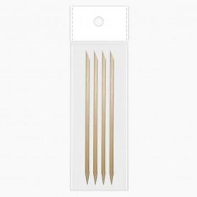 WDP01 ОРР по 4 штуки палочка 8-11см для кутикулы 3 гр.( 24 уп./ zip 17*25) цена за 1 уп стикер/шк