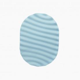 SPN32 губка волна для умывания и снятия макияжа и тела овал ребра влажный 11,5*8,5 см(толщ) родной ОРР 26 гр (20шт/уп)