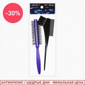 SP308 набор для волос 2пр (кисть для волос, расческа для укладки феном) в OPP (12шт/уп)