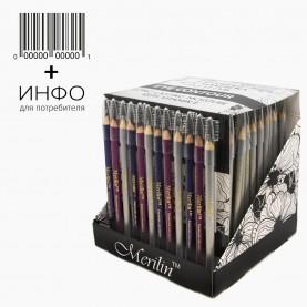CP001 /CP005/ ШБ МИКС + ШК карандаш для глаз/губ деревянный с щеточкой (144 шт/уп (3456 шт/кор) 14 см.