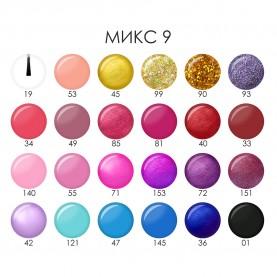 NP008 микс 09 ШБ лак для ногтей 6 ml УЛЫБКА цветной колпачок (уп 24 шт)(480 шт/кор)