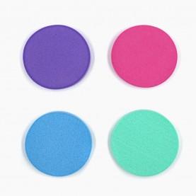 SPN24 спонж-универсал круглый цветной микс для макияжа диам 5,5 см 2гр. без ИУ (50 шт/уп 10000/кор)
