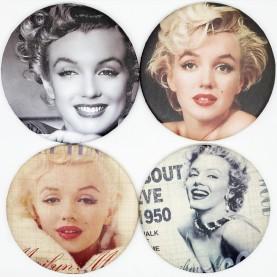 MIR 003 зеркало карманное КРУГ 7,5 см серия АКТРИСА в ОРР 28 гр.(12 шт/zip 15x20 1440/кор)