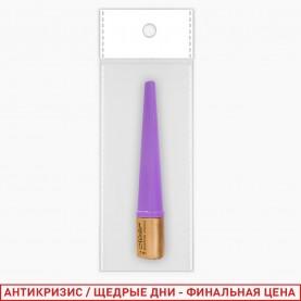 RUEL015 подводка ЛАЙТ КОФЕ кисть мягкая кейс прозрач ПРЯМОУГОЛЬНЫЙ, крышка- фиолет 7мл OPP-1(12/уп кор/60шт)