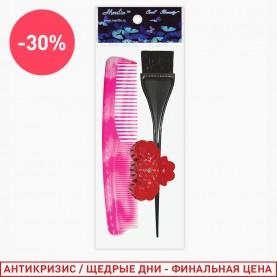 SHR300 ОРР+шк набор для волос головы 3пр 37 гр. (расческа а328, 104 кисть, зажим Big) (12шт/уп)