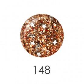 NP001_148 лак для ногтей 12 мл (прозрачный с золотыми гранулами) 12 шт/кор 480шт