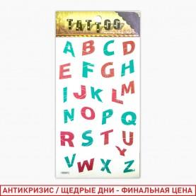 ТАТ402L тату luminous gold and silver иллюминационн клубные ассорт лист 7*9,8 см (12шт/уп к/6000шт)