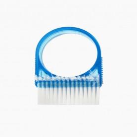 SHB05 щеточка для ногтей прозрачный ЦВЕТНОЙ пластик 2Х СТОРОННЯЯ 10 гр.(24шт/уп-1200шт/кор)