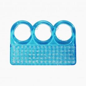 SHB04 щеточка для ногтей прозрачный ЦВЕТНОЙ пластик ТРИ КРУГА б/иу 7*4,5см 12 гр.(24шт/уп-1200шт/кор)