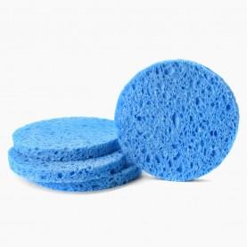 SPN25-1 губка для умывания и снятия макияжа круг 6 см- x0.7см 2,5 гр. (50шт/уп)