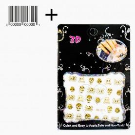NA101 (5) ОРР+шк наклейка маникюрная черн конверт 7,5*10,5 см (12шт/уп/50-100* кор/6 000шт) ассортимент