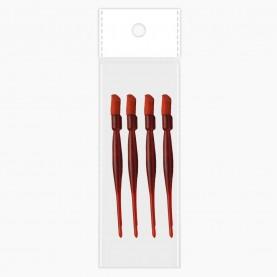 WDP02 ОРР+шк по 4 штуки палочка для кутикулы пластик с резинкой 9,5 см ЦЕНА ЗА НАБОР (12 наб/уп)