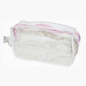 CB 02-3 косметичка PVC 22cm*14cm*7cm прямоугольная прозрачная (10шт/уп-1000шт/кор)