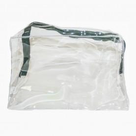 CB 01-4 косметичка PVC 20*12,5*8cm прямоугольная прозрачная плотная (10шт/уп-1000шт/кор)
