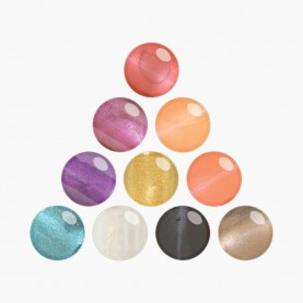 NP004_BX19 лак для ногтей треугольник(изумруд+оранж+фиол.бл+перс.бл+пурпур+чер+кор.бл+сирен.бл+прозр+золот)10 шт/уп 480шт/кор цена за штуку