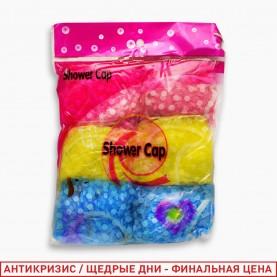 SHC01 шапочка для душа 6 шт в упаковке 25,5 дм прозрачн цветные 15гр. (6шт/уп(ОРР) 800 упаков/кор) цена за 1 шт