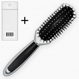 CMB305 ОРР+шк расческа массажная для волос 24 cm(12шт/уп ZIP 25*35-240шт/кор) ручка пластик, резин поду