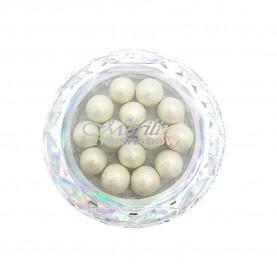 28 тени для век шарики цвет 01 белое золото с шиммером компакт Merilin 3-4 g (6 шт/уп )