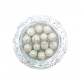 28 тени для век шарики цвет 02 бело-серебристый с шиммером компакт Merilin 3-4 g (6 шт/уп )