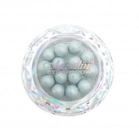 28 тени для век шарики цвет 03 бело-серебр-грозовой с шиммером компакт Merilin 3-4 g (6 шт/уп )