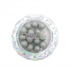 28 тени для век шарики цвет 04 светло-серый с шиммером компакт Merilin 3-4 g (6 шт/уп )