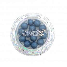 28 тени для век шарики цвет 08 серый с синевой с крапинками/золотой шиммер компакт Merilin 3-4 g (6 шт/уп )