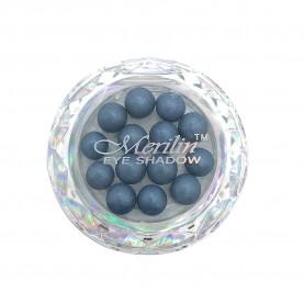 28 тени для век шарики цвет 09 темн.серый с синевой с крапинками/золотой шиммер компакт Merilin 3-4 g (6 шт/уп )