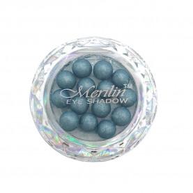 28 тени для век шарики цвет 10 грозовой серый с синевой с крапинками/золотой шиммер компакт Merilin 3-4 g (6 шт/уп )