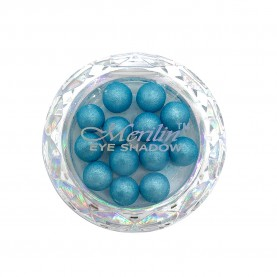 28 тени для век шарики цвет 14 бирюзовый шиммер компакт Merilin 3-4 g (6 шт/уп )