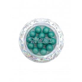 28 тени для век шарики цвет 16 зелено-голубой с золотым шиммер компакт Merilin 3-4 g (6 шт/уп )