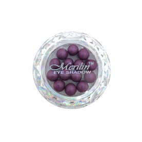 28 тени для век шарики цвет 18 бургунд с сиреневым шиммером компакт Merilin 3-4 g (6 шт/уп )
