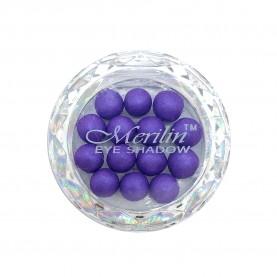 28 тени для век шарики цвет 20 ультрафиолет с сиреневым шиммером компакт Merilin 3-4 g (6 шт/уп )