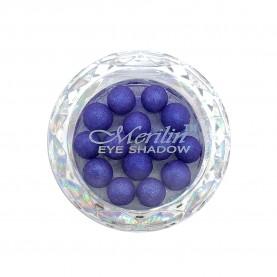 28 тени для век шарики цвет 21 сине-фиолет с белым шиммером компакт Merilin 3-4 g (6 шт/уп )
