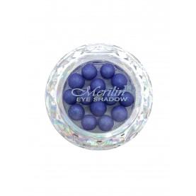 28 тени для век шарики цвет 22 синий фиолет с голубым шиммером компакт Merilin 3-4 g (6 шт/уп )
