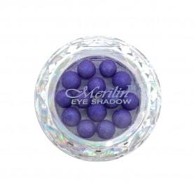 28 тени для век шарики цвет 23 фиолетовый с белым шиммером компакт Merilin 3-4 g (6 шт/уп )