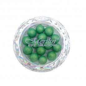 28 тени для век шарики цвет 24 зелень с золотым шиммером компакт Merilin 3-4 g (6 шт/уп )