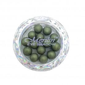 28 тени для век шарики цвет 26 тем- болотн бронзант с золотым шиммером компакт Merilin 3-4 g (6 шт/уп )