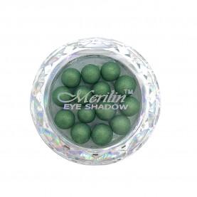 28 тени для век шарики цвет 27 болотн зелень с золотым шиммером компакт Merilin 3-4 g (6 шт/уп )