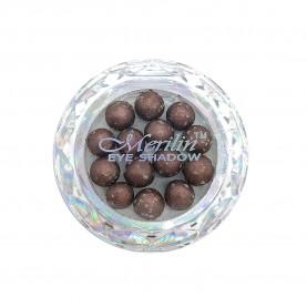 28 тени для век шарики цвет 28 коричн бронза с золот крапинк шиммером компакт Merilin 3-4 g (6 шт/уп )
