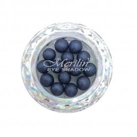 28 тени для век шарики цвет 29 фиолет-черн с серебрян шиммером компакт Merilin 3-4 g (6 шт/уп )