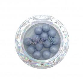28 тени для век шарики цвет 30 серебр-белый с серебрян шиммером компакт Merilin 3-4 g (6 шт/уп )
