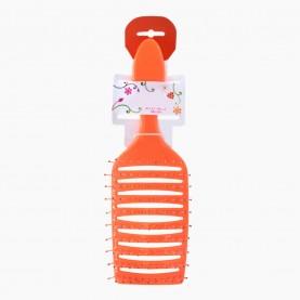 CMB525 щетка расческа продувная большая изогнутая цветная зубцы-флекс на пластиковом КИПИНе 23*7*3 см/ 66 гр. (6 шт/уп кор/ 144 шт)
