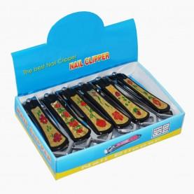 CLP03 маникюрный клиппер с пилкой ( 6см) 22 гр. (12 шт/уп, 1200 шт/уп) шоу-бокс