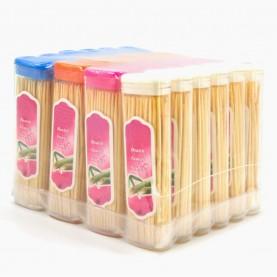 THP01 палочки деревянные /для канапе, чистки зубов/ 7,5 см в прозрачн с дозатором футляре по 70-80 штук 16 гр (24 футл/спайка) цена за 1 футляр