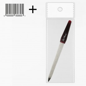 NFM 06 пилка металлическая 17 см c ЛОГОТИПОМ пилочка в OPP со шк 10 гр. (24/уп 2400/кор)